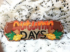 Autumn Days Title paper piecing Premade Scrapbook Pages