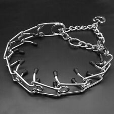 Martingale Dog Prong Collar Pinch Choke Chain Dog Training Necklace Rubber Tips