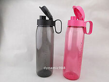 Tupperware H2GO Eco Bottle 750ml set of 2 Pink Black New Limited Edition