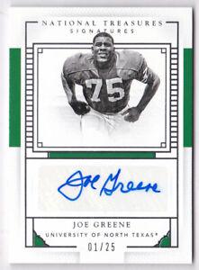 2016 National Treasures Collegiate Signatures #30 Joe Greene Auto #01/25
