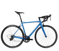 52cm Carbon Road Bicycle Frame V brake Alloy Wheels 700C Blue Full Bike 11s