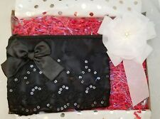 """Lace Clutch Small Bag 7.5""""x6"""" Black Soft White Brooch PIn Gift Set 2 Handmade"""