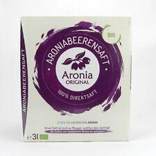 (6,32/L) Aronia Original Aroniasaft 100% Direktsaft Saft Muttersaft bio 3 L