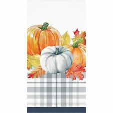 Thanksgiving Elegance 16 Ct 3 Ply Guest Napkins Navy