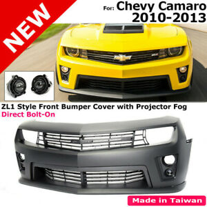 Camaro 10-15 Real ZL1 Style Front Bumper Cover Fog Light Lamp Grille Lip Spoiler