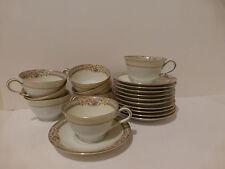 Vintage Noritake 3903 Lynbrook Cups (10) & Saucers (11) Japan  (LM