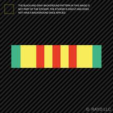 "(2x) 4"" Vietnam Veteran Military Service Ribbon Sticker Self Adhesive Vinyl"