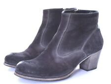 N.D.C.  Black Nubuck Leather Heel Ankle Boots Size 37.5 / 7.5