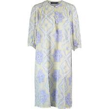 New ANTIK BATIK Caliste Designer Purple & Yellow Block Print Tunic Dress UK 8 XS