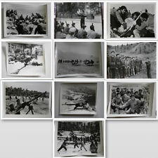 MILITARIA CHINE LOT 10 PHOTO ENTRAINEMENT MILITAIRE CHINOIS MAO CHINESE ARMY