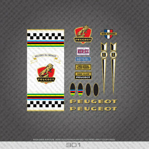 0901 Peugeot Late 60s PX10 Frame Stickers with white panel Decals