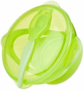 Nuby Bowl Lid Spoon Easy Go Feeding Kit 6+ mo BPA Free Pink Blue Gr New