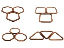 Pack of 20 Macrame Rings, 5 of each, Square, Hexagon, Octagon & Triangle. S7785