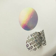 "100 Hologram Sticker 1"" Round Security Seal Tamper Proof Warranty Void Label"