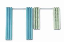 Lundby 60.4035 Puppenhaus Smaland 2 Gardinen blau weiß