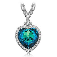 """LadyColour """"Heart of the Ocean"""" Titanic Heart Pendant Necklace Made with Swar..."""