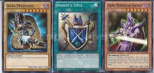 Dark Magician + Dark Magician Knight + Knight's Title - Near Mint - Yugioh
