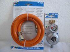 CFH Set Druckregler 50mbar mit Füllstandsanzeige , Gasgrill+Gasschlauch 2m+448