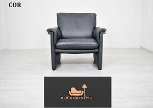 Cor Designer Sofa Anthrazit Sessel Couch Leder Wohnzimmer Echtleder Sitz
