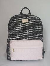 Betsey Johnson BACKPACK Large in SPOT Polka DOTS w/ BLUSH Quilted Heart BRL0015