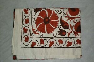 Twin Size Embroidered Wall Hanging, Colorful Suzani Wall Art