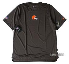 $65 NIKE CLEVELAND BROWNS ON FIELD PLAYERS SIDELINE SHIRT TEAM ISSUE PE XL