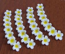 48 Artificial Foam Flowers Yellow Plumeria Heads Wedding Decor