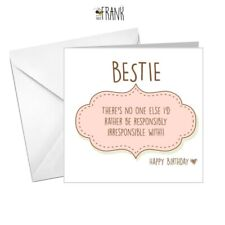 Funny, cute, alternative, sarcastic, Birthday Card. Best Friend.  Bestie. Fun