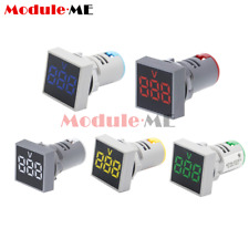 Digital 22mm Ac20 500v Led Light Panel Voltage Volt Meter Display Voltmeter