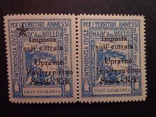 FIUME SUSAK KRK Overprinted  Croatia-Italy taxe revenues stamp 40 cent Pairs