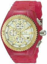 TechnoMarine Unisex 115264 Cruise Jellyfish Pink/White/Gold Silicone Watch