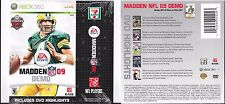 BRETT FAVRE #4 GREEN BAY PACKERS XBOX 360 LIVE MADDEN 09 DEMO & HIGHLIGHTS DISC