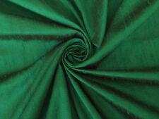 "Emerald Green 100% dupioni silk fabric yardage By the Yard 45"" wide Sew Drapery"