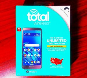 "Total Wireless Moto e6 4G LTE 5.5"" 16GB Prepaid Smartphone Brand New Sealed"