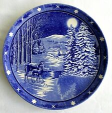 "Spode, 1992 Christmas Plate, Blue "" Silent Night "" Hamilton Collection"