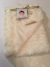 Blankets And & Beyond Baby Girls Blanket Ivory Rosette Swirls Layette 30x30