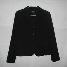 Womens Suit Jacket Size 6 Black Three Button Career Classic