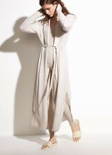 NWT Vince $565 Boiled Cashmere Side Slit Cardigan Robe in Mist; XS