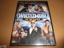 WWE WRESTLEMANIA 27 XXVII dvd THE ROCK john cena MIZ undertaker TRIPLE H cm punk