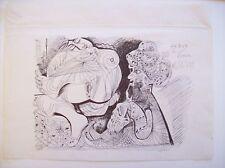 "pablo picasso ink drawing """" homme au turban et nu couche '' 1969  attribute"