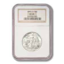 United States Walking Liberty Half Dollar 50 Cents 1943 S NGC MS-65