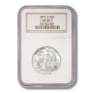 United States Walking Liberty Half Dollar 50 Cents 1943 S NGC MS-65