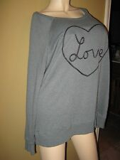 "VICTORIA'S SECRET OVERSIZED ""LOVE"" SWEATER - XL - VERY PRETTY - NWOT"