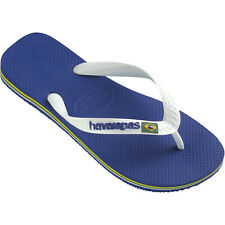 Havaianas Brasil Logo Footwear Flip Flops - Marine Blue All Sizes