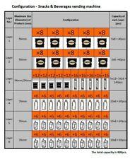 Combo Vending Machine Brand New capacity 400 pcs