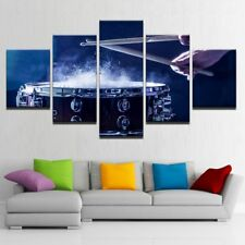 Drum and Sticks on the Performance Stage 5 pieces Canvas Wall Poster Home Decor