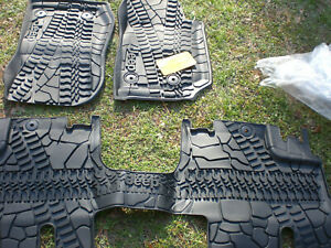JEEP Wrangler Slush Floor Mat Set Genuine 82213860 Mopar OEM 2014-2018