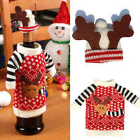 2x New Merry Christmas Santa Wine Bottle Bag Cover Xmas Dinner Party Table Decor