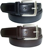 Mens Leather Belts in Black or Brown Casual Jeans or Trouser Belt Sizes M to XXL