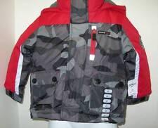 OSHKOSH B-Gosh Boys 2T Outerwear 4 in 1 Winter Jacket Red Gray Camouflage